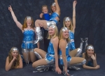 Group dance recital shot